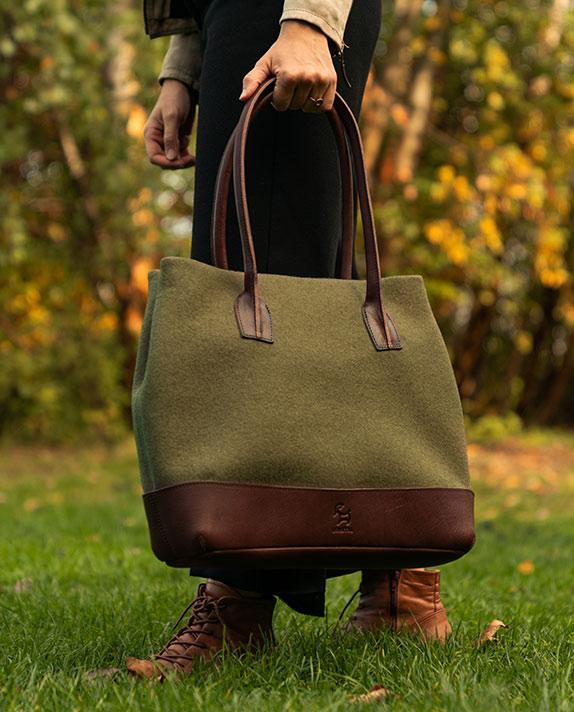 Shopper Tasche hergestellt aus nachhaltigen Materialien